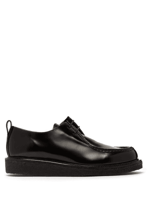 Ami - High Shine Leather Derby Shoes - Mens - Black