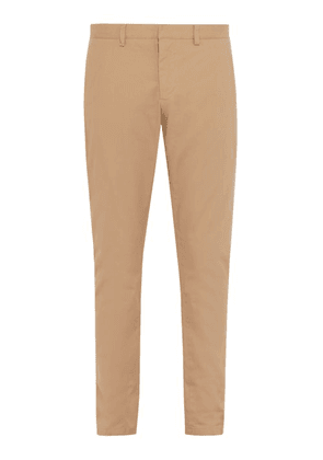Ami - Mid Rise Cotton Chino Trousers - Mens - Beige