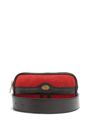 Gucci - Ophidia Small Suede Belt Bag - Womens - Red