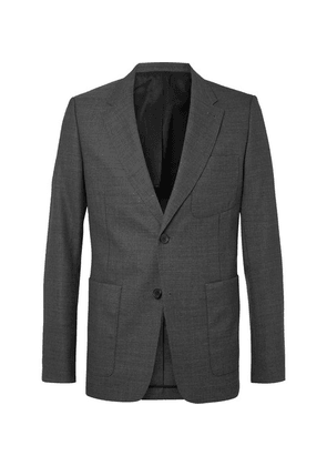 AMI - Grey Slim-fit Unstructured Wool Suit Jacket - Gray
