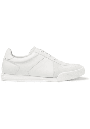 Givenchy - Set3 Full-grain Leather And Suede Sneakers - White