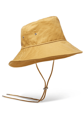 AMI - Cotton-satin Bucket Hat - Yellow