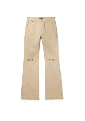 Undercover - Slim-fit Distressed Denim Jeans - Beige