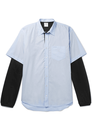 Vetements - Happiness Oversized Layered Printed Cotton Shirt - Blue