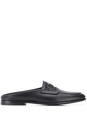 Dolce & Gabbana leather slip on loafers - Black