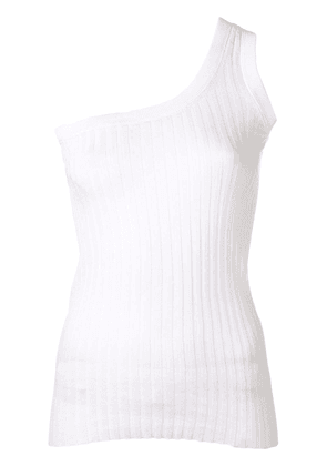 Circus Hotel one shoulder tank top - White