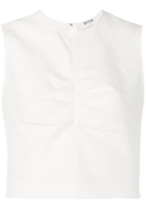 MSGM ruched detailed vest - White