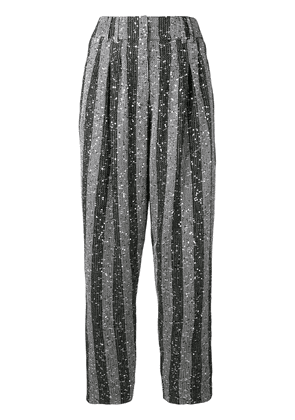 Balmain sequin embellished tapered trousers - Silver