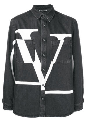 Valentino maxi logo denim shirt - Black