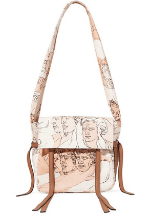 Loewe - Faces Small Leather-trimmed Printed Canvas Shoulder Bag - Blush