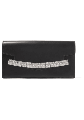 CALVIN KLEIN 205W39NYC - Crystal-embellished Leather Clutch - Black