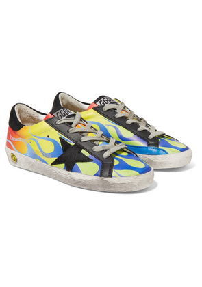 Golden Goose Deluxe Brand Kids - Size 28 - 35 Superstar Distressed Logo-print Leather And Suede Sneakers