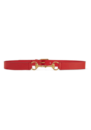 Gucci - Horsebit-detailed Leather Belt - Red