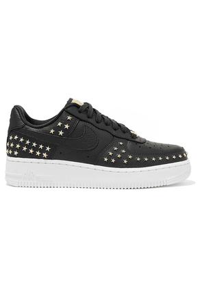 Nike - Air Force 1 '07 Lx Embellished Textured-leather Sneakers - Gray