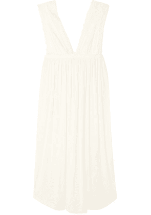 Eberjey - Sara The Grand Lace-trimmed Stretch-modal Jersey Nightdress - Ivory