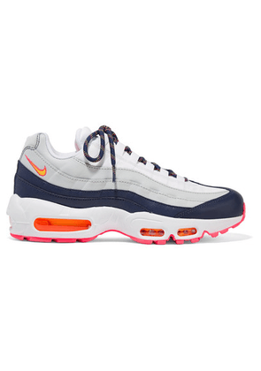 Nike - Air Max 95 Suede, Mesh And Leather Sneakers - Gray