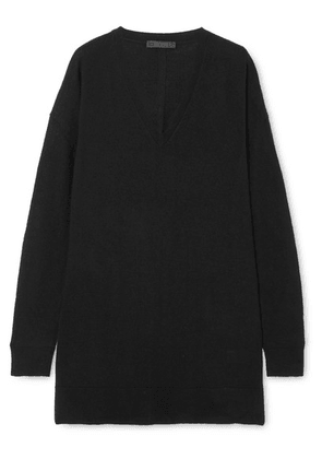 The Row - Amherst Oversized Cashmere And Silk-blend Sweater - Black