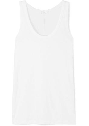 rag & bone - Slub Stretch-pima Cotton Jersey Tank - White