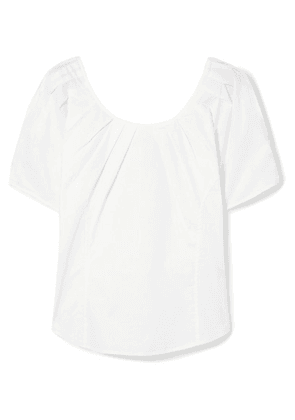 J.Crew - Daiso Pleated Cotton-blend Poplin Top - White