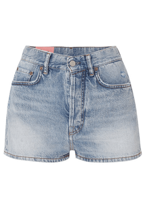 Acne Studios - Ren Distressed Denim Shorts - Light denim