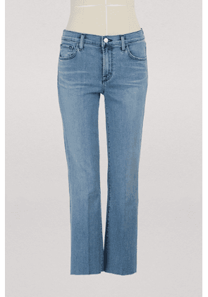 Selena cropped bootcut mid-rise jeans