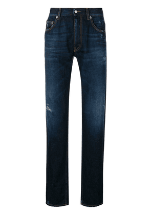 Love Moschino washed high-cuff jeans - Blue