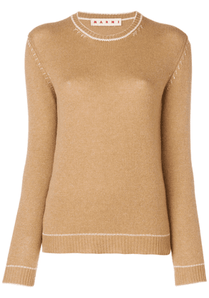 Marni fitted silhouette sweater - Brown