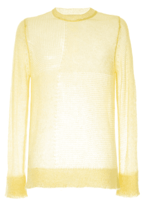 Marni sheer knit sweater - Yellow