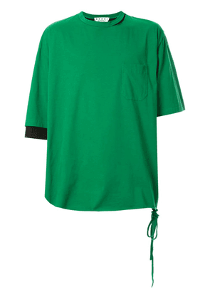 Marni oversized colour block T-shirt - Green