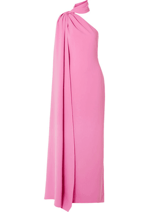 Brandon Maxwell - Draped One-shoulder Crepe Gown - Pink