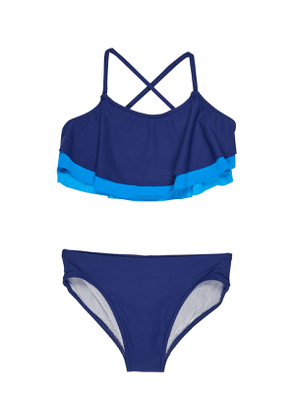 Shades of Blue Two-Piece Swimsuit, Size 7-14