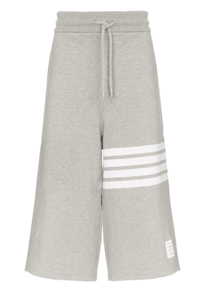 Thom Browne 4-Bar oversized cropped cotton sweatpants - Grey