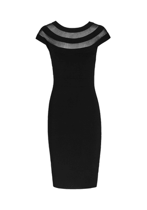 Reiss Karri - Sheer-panel Bodycon Dress in Black, Womens, Size 6