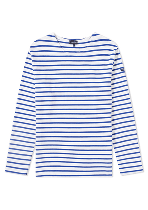 Armor-Lux 1525 Long Sleeve Loctudy Tee White & Mid Blue
