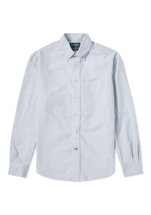 Gitman Vintage Oxford Stripe Shirt White & Blue