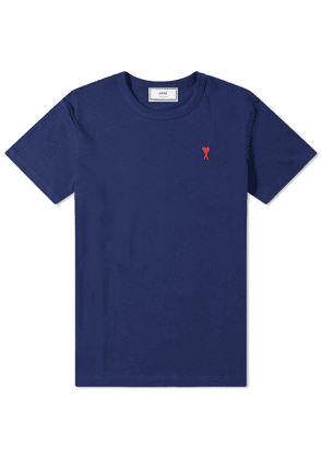 AMI Embroidered Heart Logo Tee