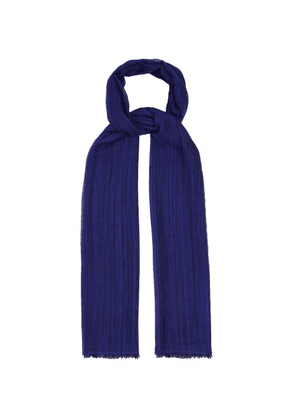 Denis Colomb - Berber Striped Cashmere And Silk Blend Scarf - Mens - Blue