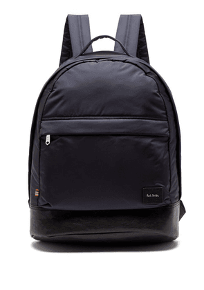 Paul Smith - Leather Trimmed Backpack - Mens - Navy