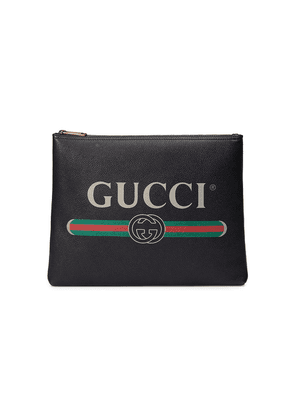 Leather Pouch with logo