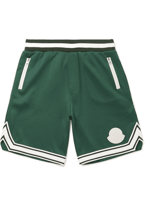 Moncler - Striped Jersey Shorts - Green