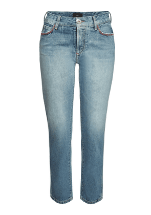 ALANUI Embroidered Skinny Jeans with Beads