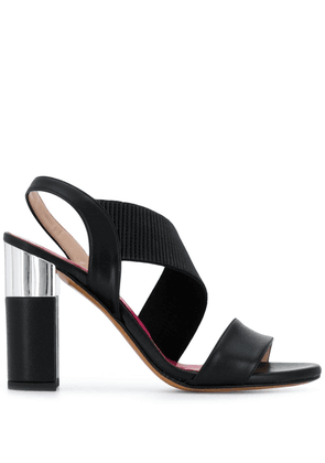 Albano ribbed strap pumps - Black
