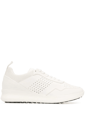 Baldinini perforated lace-up sneakers - White
