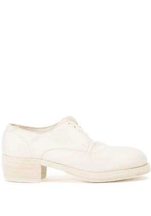 Guidi block-heel shoes - White