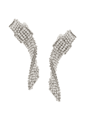 Ca & Lou crystal clip-on earrings - Silver