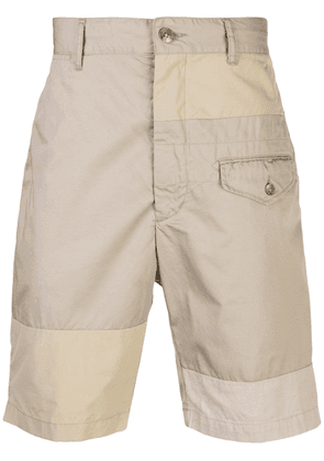 Engineered Garments panelled shorts - Brown