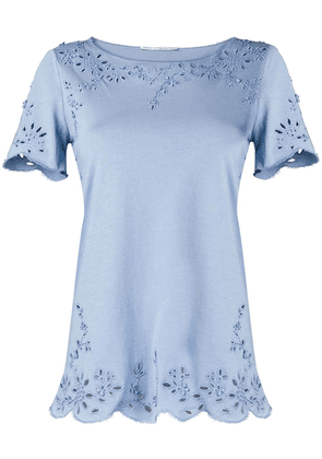 Ermanno Scervino embroidered detail T-shirt - Blue
