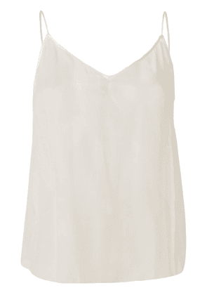 Dorothee Schumacher sheer sleeveless top - White