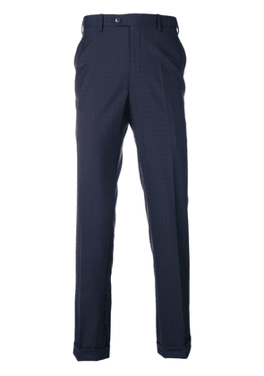 Brioni checked trousers - Blue