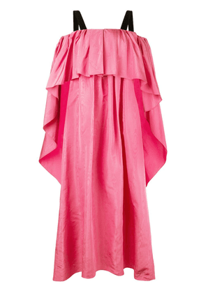 Adam Lippes Moire pleated gown - Pink